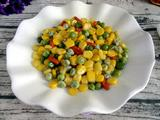 玉米粒炒豌豆的做法[图]
