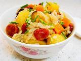 土豆香菇香肠焖饭的做法[图]