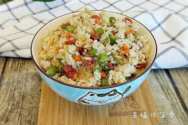 香菇四季豆炒饭