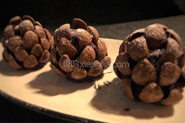 """紫薯松果——减肥也可以吃的""""甜品"""""""