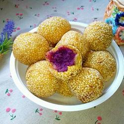 紫薯糯米芝麻球