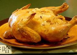 百里香黄油烤鸡