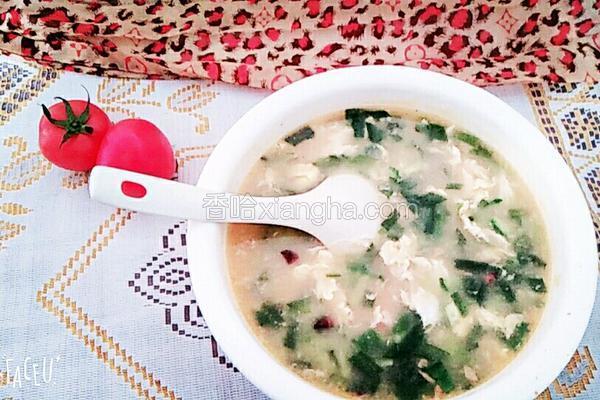韭菜虾仁疙瘩蛋花汤