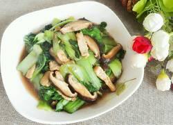 香菇油菜炒肉片