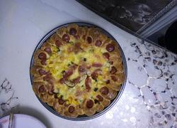 火腿玉米蔬菜披萨