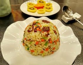 香肠雪菜炒饭