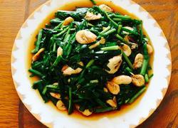 青虾炒韭菜