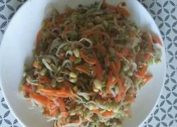 胡罗卜丝炒绿豆芽