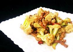 干锅肉丝菜花
