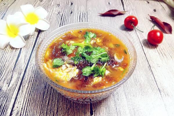西红柿紫菜蛋花汤