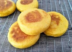 玉米白面发面饼