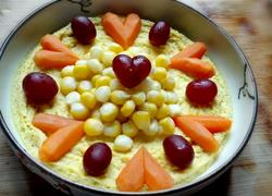 玉米爱心胡萝卜蒸蛋