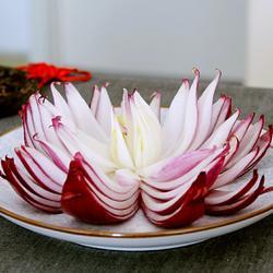 洋葱花切法