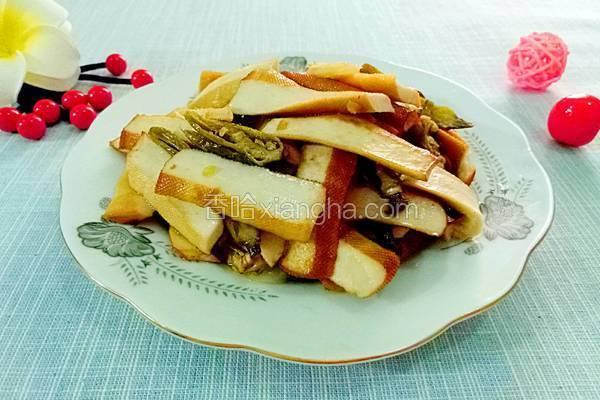 蒲海椒炒豆干