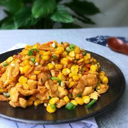 玉米粒炒鸡蛋