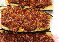 茄子烤肉饼