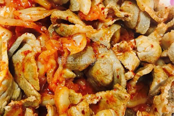 泡菜炒梅花肉