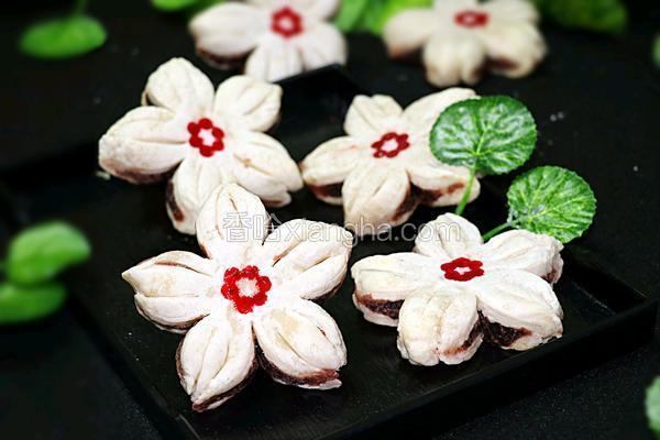 中式点心樱花酥