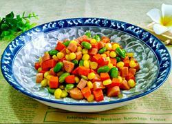 黑豆炒胡萝卜玉米粒