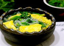 菠菜鸡蛋炖粉条