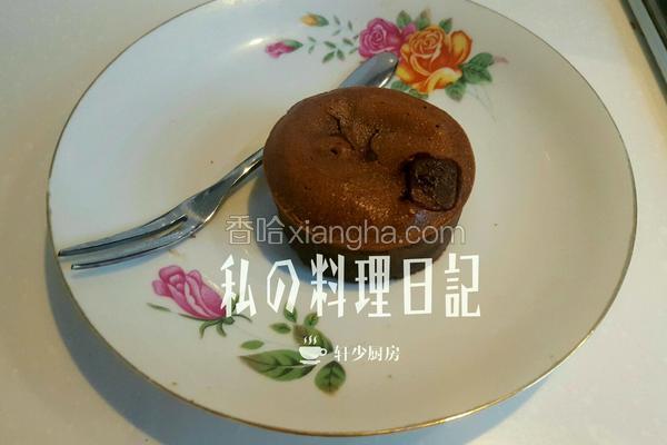 榴莲味巧克力熔岩蛋糕