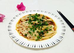 葱油蒸金针菇