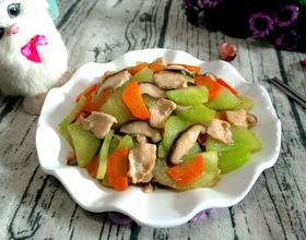 青笋香菇炒肉