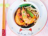 鲜虾蔬菜面的做法[图]