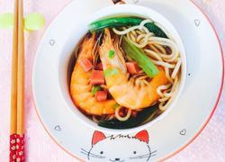 鲜虾蔬菜面