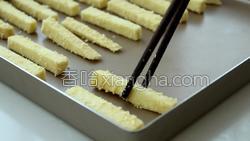 椰蓉烤红薯条的做法图解10