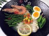 高汤鲜虾蔬菜面的做法[图]