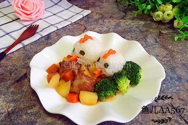 (排骨炖土豆)小鸡饭团