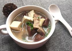 猪血豆腐汤