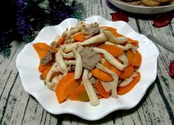 海鲜菇炒羊肉