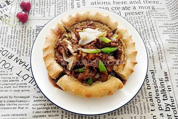 自制新疆美味馕爆肉
