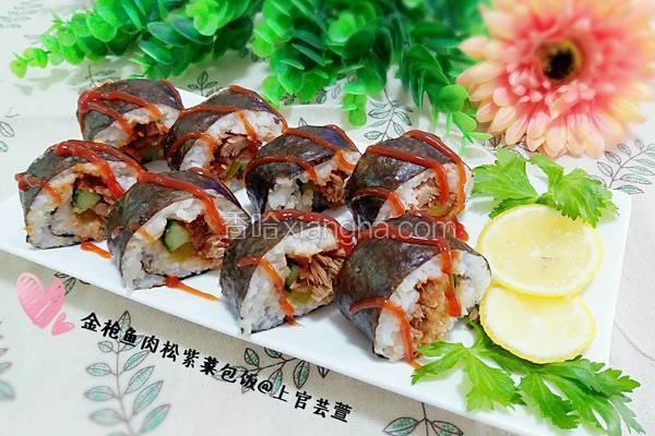 金枪鱼肉松紫菜包饭