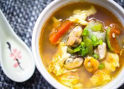 海虹丝瓜鸡蛋汤