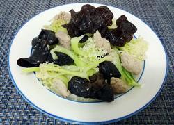 木耳菜花小炒肉