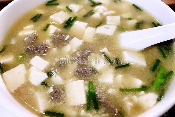 猪肝豆腐汤