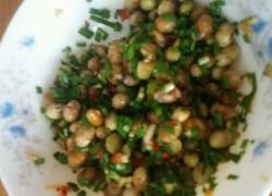 韭菜拌菜黄豆