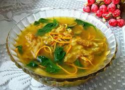 虫草肥牛菠菜汤