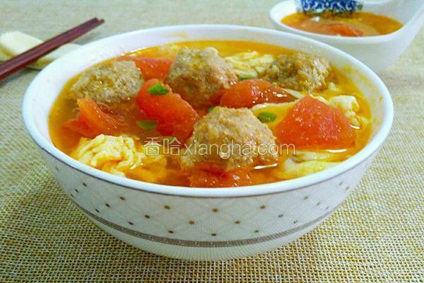 番茄肉丸鸡蛋汤