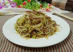 肉丝豆芽菜