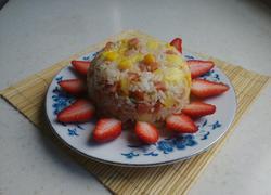 菠萝火腿玉米粒炒饭