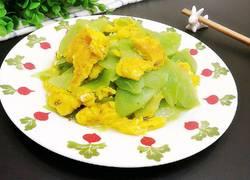 油麦菜苔炒蛋