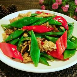 四季豆红椒炒