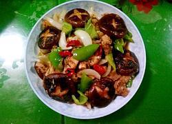 香菇圆葱烧肉片
