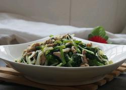 雪菜肉丝炒豆芽