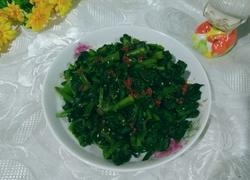 辣椒油拌菠菜