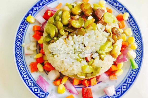 青蚕豆焖糯米饭
